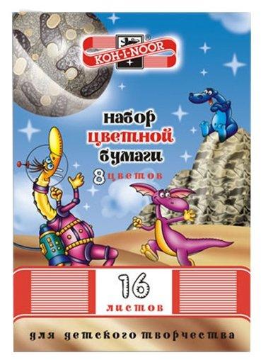 Цветная бумага Космос KOH-I-NOOR, A4, 16 л., 8 цв.