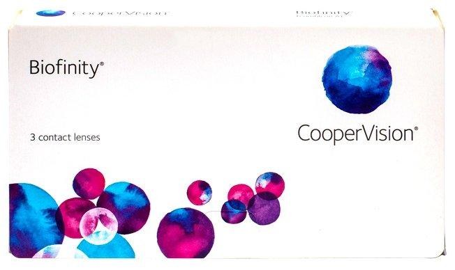 Контактные линзы CooperVision Biofinity Ежемесячные, 3 шт. -1.00