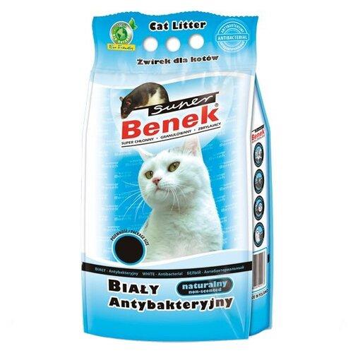 Комкующийся наполнитель Super Benek Белый антибактериальный 5 л комкующийся наполнитель super benek компакт натуральный 5 л