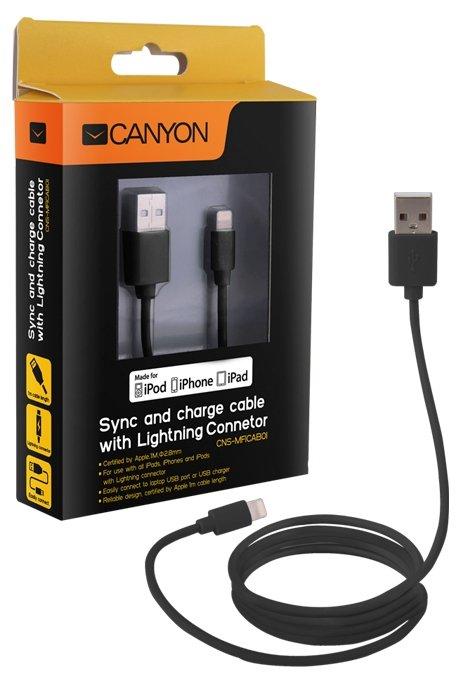 Кабель Canyon USB - Lightning (CNS-MFICAB01) 1 м