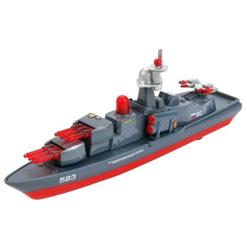Купить Корабль ТЕХНОПАРК Вооруженные силы (SB-14-19) 1:32 18.5 см серый/красный, Машинки и техника
