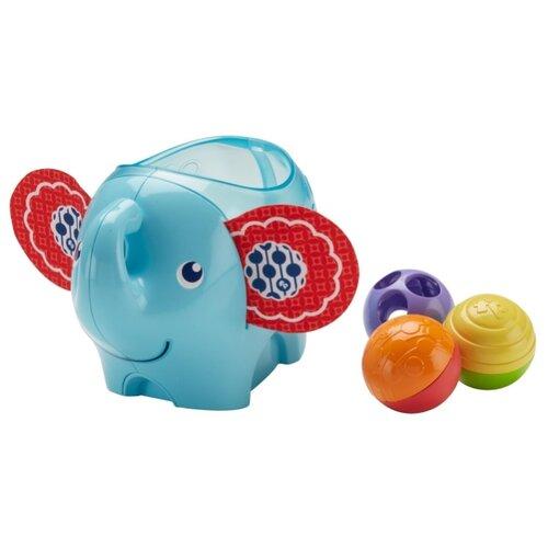 Купить Развивающая игрушка Fisher-Price Слоник с шариками (DYW57) голубой/красный, Развивающие игрушки