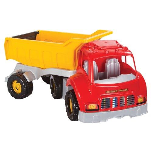 Купить Грузовик pilsan Moving Truck (06-602) 74.5 см красный/желтый, Машинки и техника