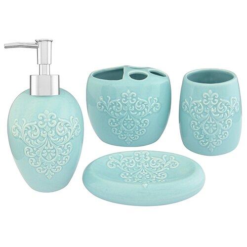 Набор для ванной Elan gallery 4 предмета для ванной бирюзовый