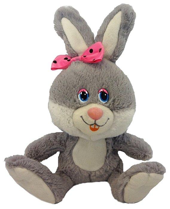 Мягкая игрушка Maxitoys Зайка Милашка с розовым бантиком 21 см