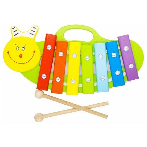 Alatoys ксилофон Улитка КС0701 разноцветныйДетские музыкальные инструменты<br>
