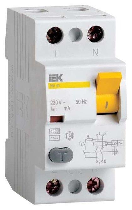 УЗО IEK 300мА тип AC ВД1-63 MDV10-2-063-300 2 полюса