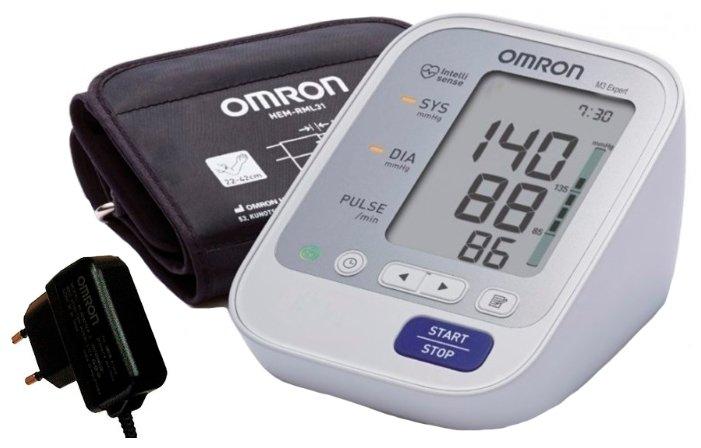 Тонометр Omron M3 Expert Адаптер+Универсальная манжета