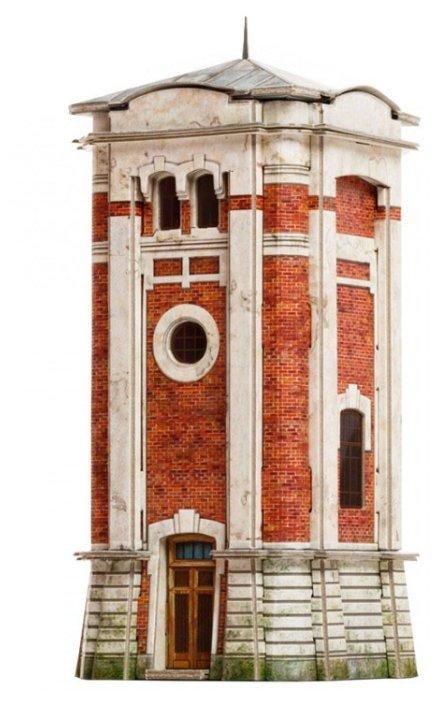 Сборная модель Умная Бумага Водоёмное здание Станция Серебряный бор (441),,