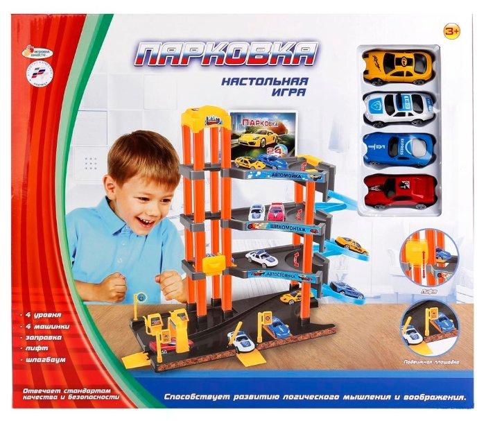 Игровой набор Играем вместе B1349252-R Парковка 4 уровня с машинками