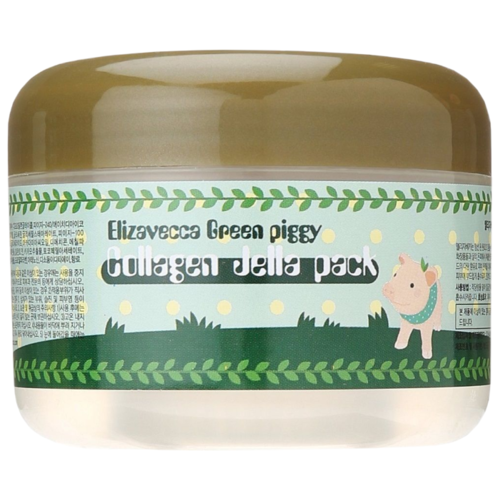 Elizavecca Высококонцентрированная желейная лифтинг маска с коллагеном Green Piggy Collagen Jella Pack, 100 г green piggy collagen