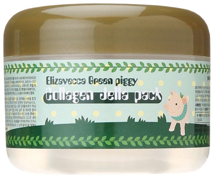 Elizavecca Высококонцентрированная желейная лифтинг маска с коллагеном Green Piggy Collagen Jella Pack
