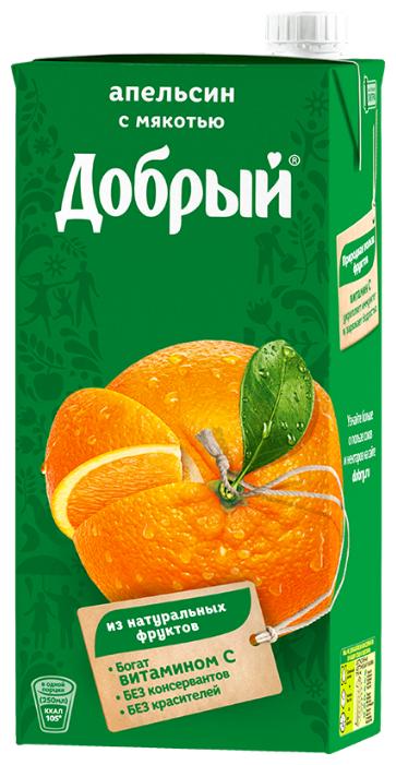 Нектар Добрый Апельсин, с крышкой, 1 л