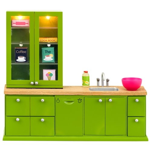 Купить Lundby Кухонный набор с буфетом Смоланд (LB_60207700) зеленый, Мебель для кукол