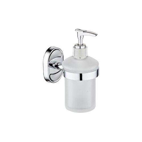 Дозатор для жидкого мыла Ростовская Мануфактура Сантехники A6022 белый/хром