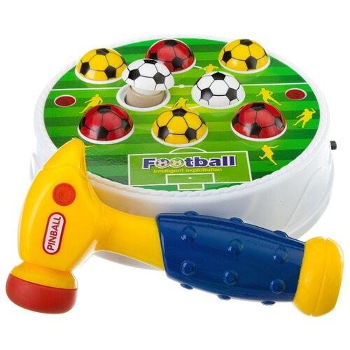 Стучалка BONDIBON Футбол синий/желтый/белый/зеленый значок зеленый футбол