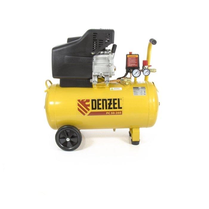 Компрессор воздушный DENZEL PC 50-260, 1.8 кВт, 260л/мин, 50л, 10 бар