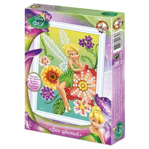 Купить Десятое королевство Рисунок с пайетками Феи. Фея цветов 01839, Картины из пайеток