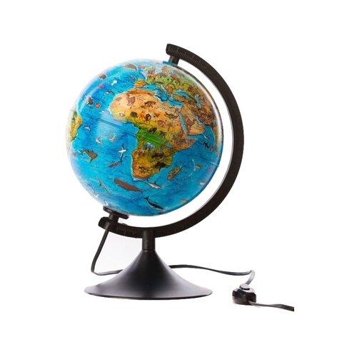 Глобус зоогеографический Globen Детский Классик 210 мм (К012100206) черный