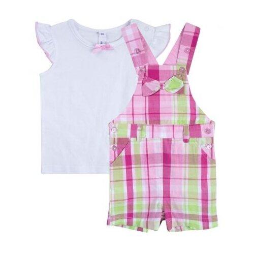 Купить Комплект одежды playToday размер 74, белый/розовый/светло-зеленый, Комплекты