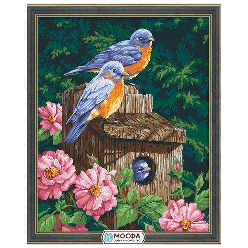 Купить Мосфа Картина по номерам Домик для птиц 40х50 см (7С-0101), Картины по номерам и контурам