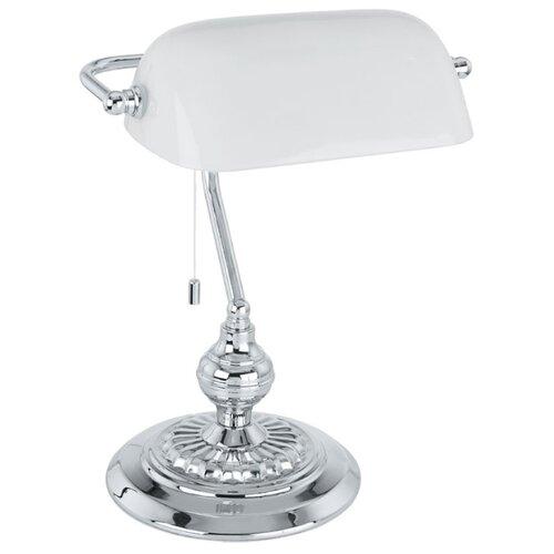 Настольная лампа Eglo Banker 90968, 60 Вт настольная лампа lucide banker 17504 01 11