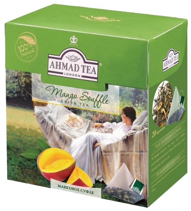 Купить Чай зеленый Ahmad tea Mango souffle в пирамидках, 20 шт. по низкой цене с доставкой из Яндекс.Маркета (бывший Беру)