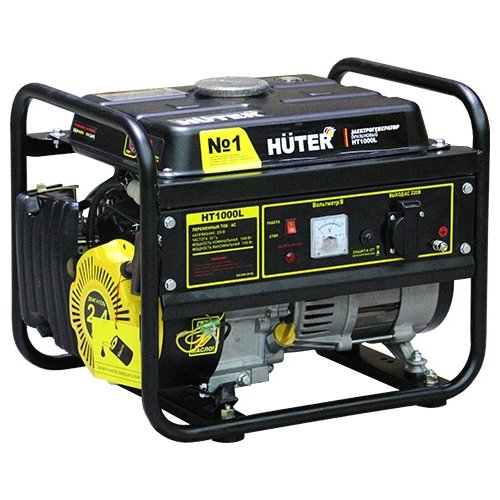 Фото - Бензиновый генератор Huter HT1000L (1000 Вт) бензиновый генератор huter dy3000lx 2500 вт