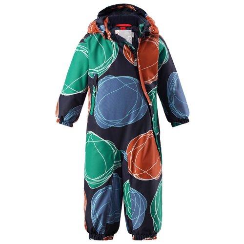 Купить Комбинезон Reima Loska 510268 размер 92, мультиколор (зеленый/оранжевый), Теплые комбинезоны