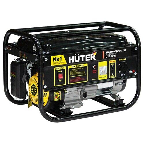 Бензиновый генератор Huter DY2500L (2000 Вт) бензиновый генератор huter dy3000l