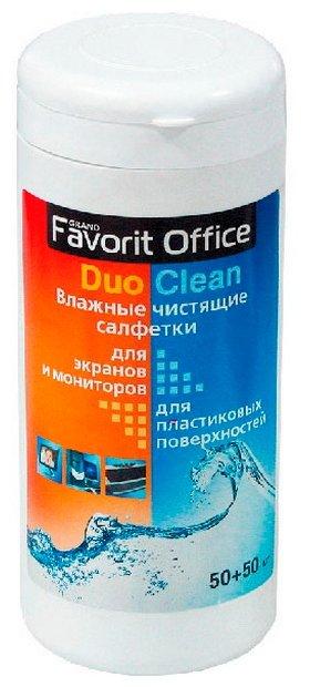 Favorit Office Duo Clean влажные салфетки 100 шт. для экрана, для оргтехники