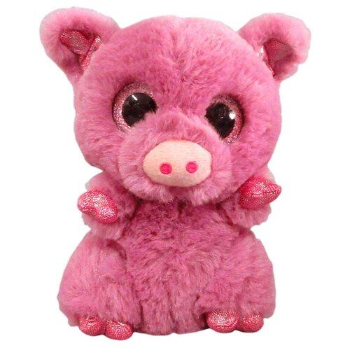 Купить Мягкая игрушка Yangzhou Kingstone Toys Свинка розовая 15 см, Мягкие игрушки