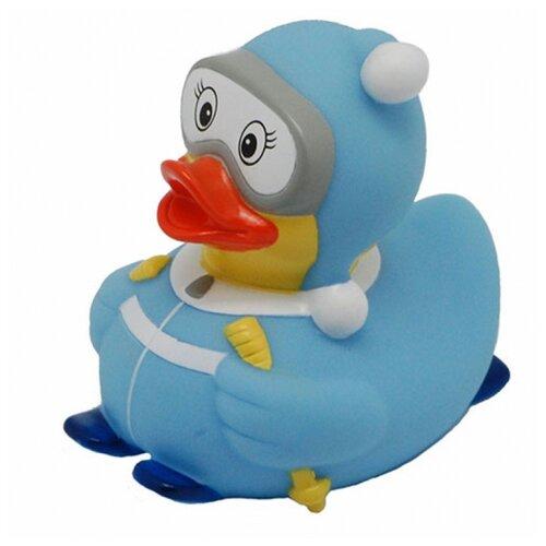 Купить Игрушка для ванной FUNNY DUCKS Лыжница уточка голубой, Игрушки для ванной