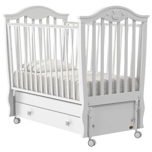 Кроватка Nuovita Sorriso (качалка), продольный маятник белый кроватка гандылян дашенька колесо качалка белый