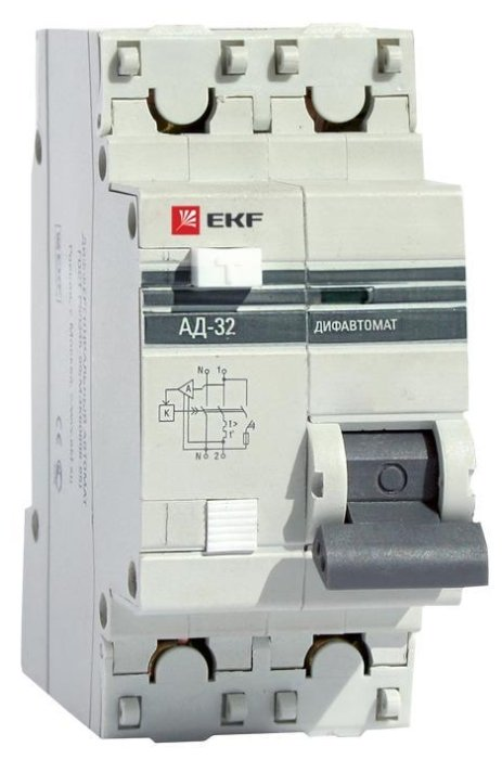 Дифференциальный автомат EKF АД-32 2П 30 мА C 10 А