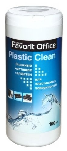 Favorit Office Plastic Clean F230007 влажные салфетки 100 шт. для оргтехники