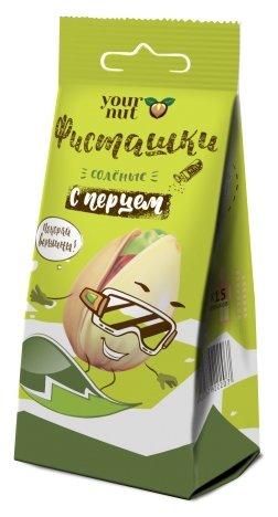 Фисташка Your nut обжаренная соленая с черным перцем, пластиковый пакет 80 г