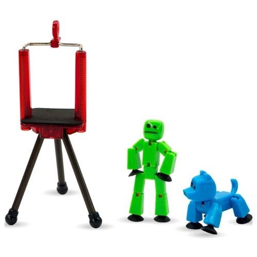 Игровой набор Zing Stikbot Анимационная студия с питомцем TST615A zing игрушка zing stikbot мегадино