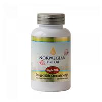 Норвегиан фиш оил омега-3 с витамином д капс. жев. 800мг №120