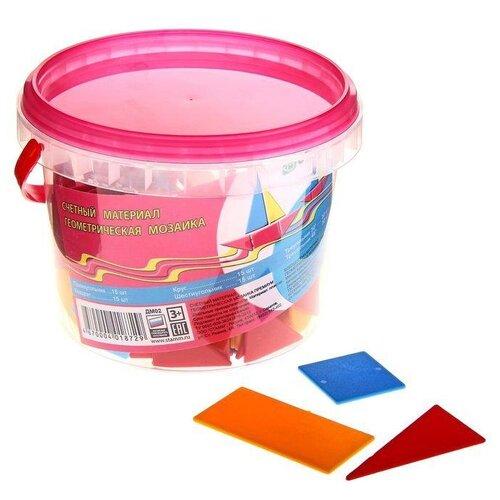 Купить Счетный материал СТАММ Дидактический материал Геометрическая мозаика Премиум, Обучающие материалы и авторские методики