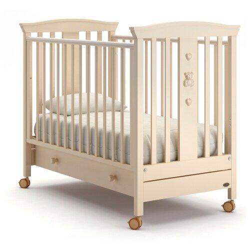 Кроватка Nuovita Fasto (колесо) (качалка) слоновая кость кроватка гандылян дашенька колесо качалка слоновая кость