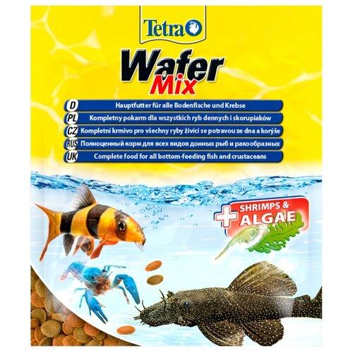 Сухой корм для рыб, ракообразных Tetra Wafer Mix 15 г корм сухой prodac algae wafer mini для аквариумных пресноводных рыб в таблетках 135 г