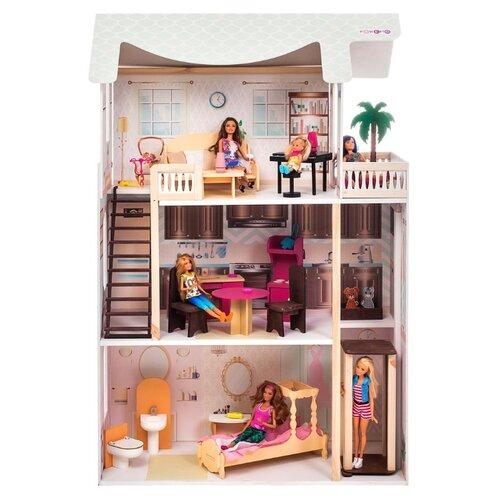 paremo кукольный домик эмилия романья с мебелью pd318 04 розовый голубой PAREMO кукольный домик Сан-Ремо с мебелью PD318-06, розовый/голубой/белый