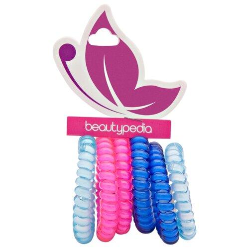 Резинка Beautypedia Спирали 6 шт. синий/бирюзовый/розовый