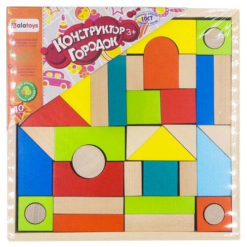 Купить Кубики Alatoys Городок К2410, Детские кубики