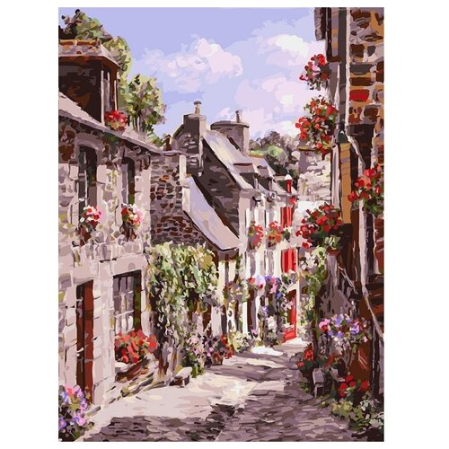 Купить Белоснежка Картина по номерам Франция. Динан 30х40 см (254-AS), Картины по номерам и контурам