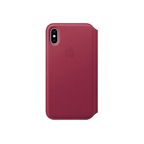 Чехол Apple Folio кожаный для Apple iPhone X berry apple leather folio чехол для iphone x taupe