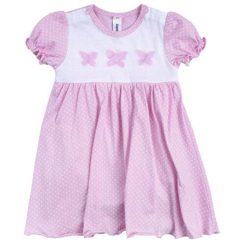 Купить Платье-боди playToday размер 62, белый/светло-розовый, Платья и юбки