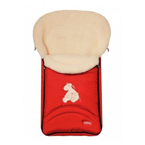 Купить Конверт-мешок Womar North pole в коляску 95 см 4/1 красный, Конверты и спальные мешки