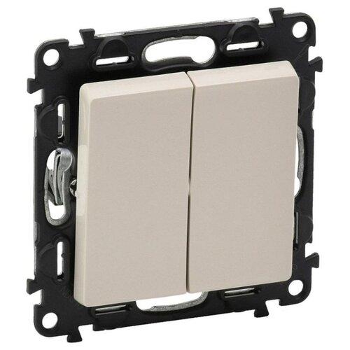 Выключатель 2х1-полюсныйвыключатель / переключатель Legrand Valena Life 752505,10А, слоновая костьРозетки, выключатели и рамки<br>